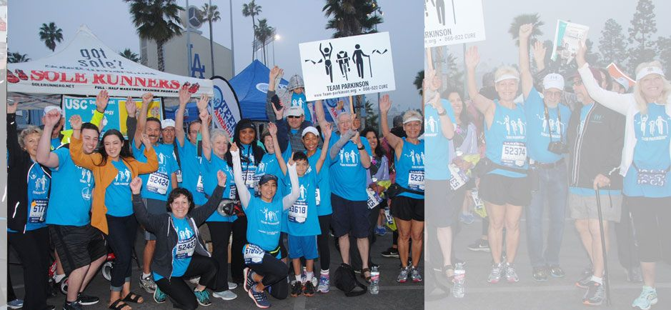 RUN/WALK/CHEER/GIVEwith Team Parkinson at the 2018 Skechers Performance Los Angeles Marathon