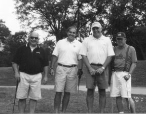 L to R: Tom Tarolli, Matthew Tarolli, Tony Vecchio, and The Parkinson Alliance Co-founder, Dale Severance.