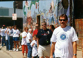 Dr. Rick leads the walk